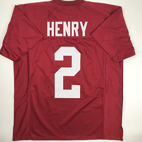 Unsigned Derrick Henry Alabama Red Custom Stitched College Football Jersey Size Men's XL New No Brands/Logos