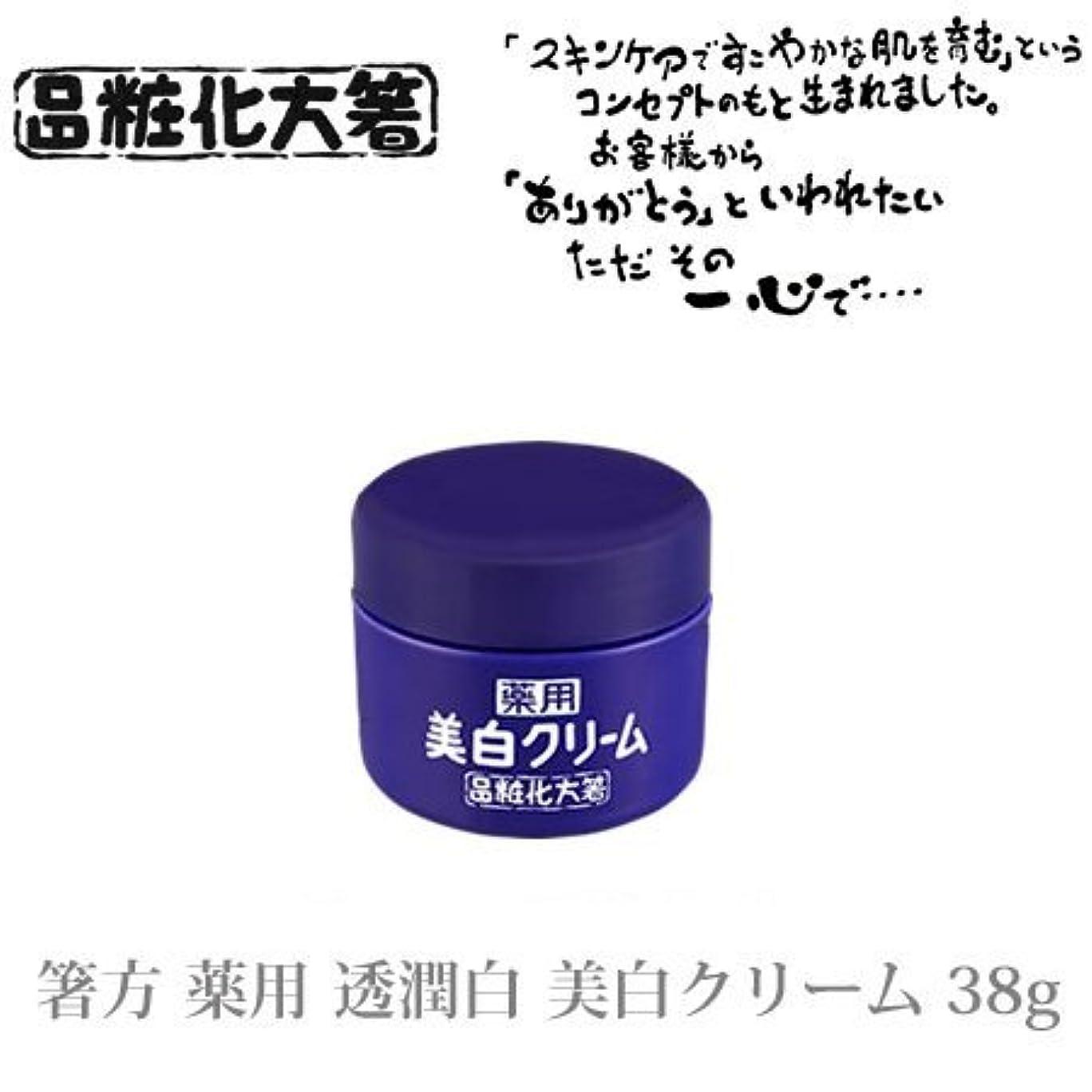 成功ベテラン余暇箸方化粧品 薬用 透潤白 美白クリーム 38g はしかた化粧品