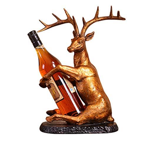 LYQZ Reindeer wine rack decoration European creative lucky crafts home living room decoration wine shelf