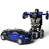 Redcolourful Kinder Simulation Auto Auswirkungen zu Mini Inertial Fahrzeug Spielzeug Kinder zu verwandeln Blau 86 g -