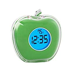 StealStreet SS-KD-2054-GREEN, 3 Multi-Functional Talking Alarm Clock with Temperature, Green Apple, 3