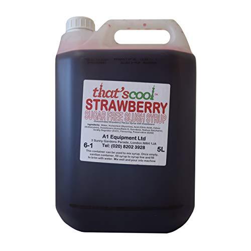 Strawberry Slush Sirup Sugar Free 5L 6-1 Verhältnis