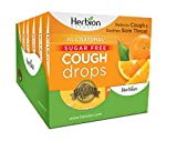 Herbion Naturals Sugar Free Cough Drops 108 Counts Orange Flavor (Pack of 6, 18 Counts per Pack)