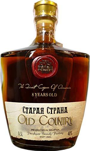 """Armenischer Brandy\""""Old Country\"""" 8 Jahre, 40{98494d4fe4acdb6fb0cb847d70097959c1158ff0c16eb314ddf099a3f42b7336} vol 0,5L"""