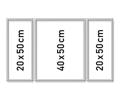 Schipper 605260767 Malen nach Zahlen, Alurahmen Triptychon 50 x 80 cm, silber matt ohne Glas für Ihr Kunstwerk, einfache Selbstmontage