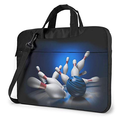 Laptop Umhängetasche 14 Zoll, Bowling Aktentasche Schutztasche