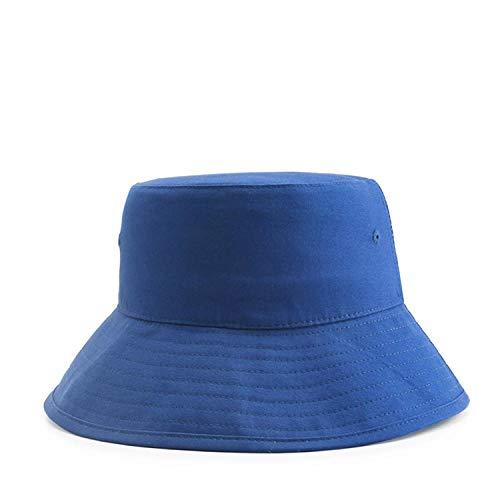 Sombrero de Pescador unisexSombrero de Pescador Unisex, Sombrero de ala Grande para Exteriores, protección Solar, Lavabo, sombrilla, Sombrero de Pescador, Azul Marino_M (56-58cm)