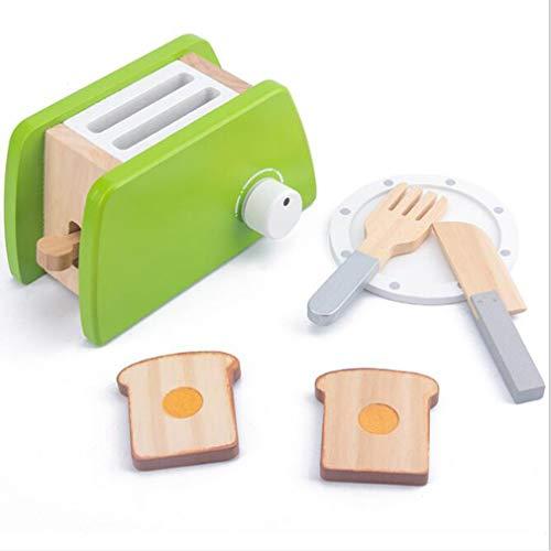JINLL Pädagogisches Lernen Spielzeug Junge Mädchen Kind Küche Kochen Rollenspiel Essen Kochen Spielzeug, Grüner Brotbackautomat