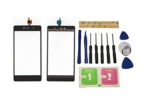 Flügel para Wiko Fever 4G Pantalla de Cristal Táctil Touchscreen Glass Display Negro( Sin LCD)de Recambio & Herramientas