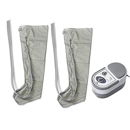 ALLWIN Masajeador eléctrico compresión Aire piernas, envolturas para piernas, Tobillos pies, máquina Masaje para pantorrillas, promueve la circulación sanguínea, Alivia el Dolor y la Fatiga