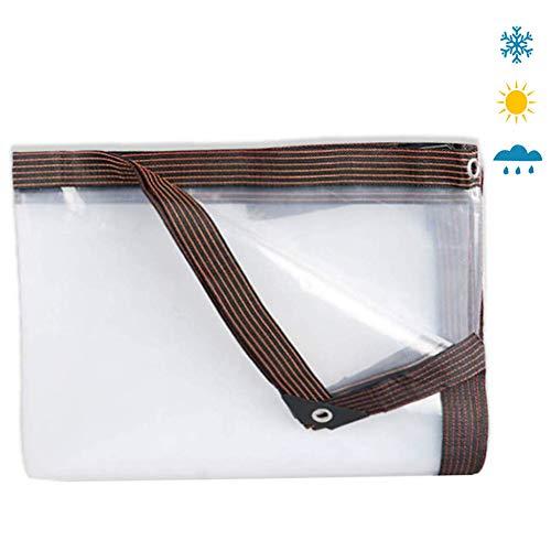 XNDCYX Lonas Transparentes Impermeables Exterior, Lona De Protección con Ojales, Diferentes Tamaños A Elegir Toldo Transparente, para Muebles, Jardín, Piscina, 120G/M²,12x12ft/4x4m