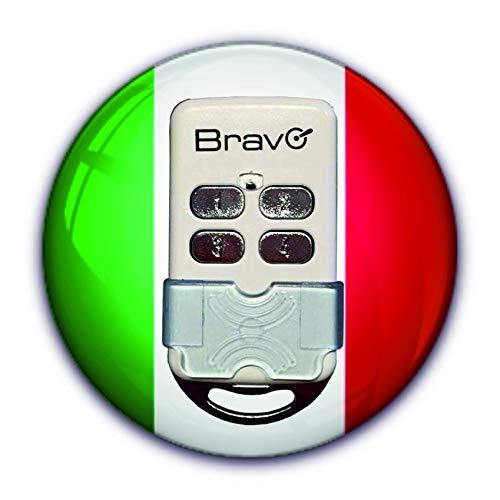 Radiocomando Bravo per apricancello Passepartout Universale Autoapprendente Codice Fisso Frequenza 300 433 868 Mhz, avorio