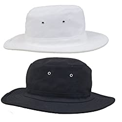 Zacharias Mens Cricket Umpire Sun Hat Pack of 2 Black & White