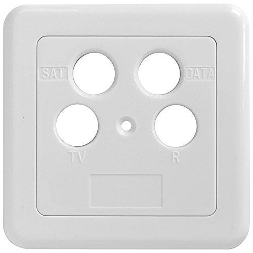 Axing SZU 2-12 stopcontact-afdekking data, SAT, tv voor BSD 960 (2-delig) wit