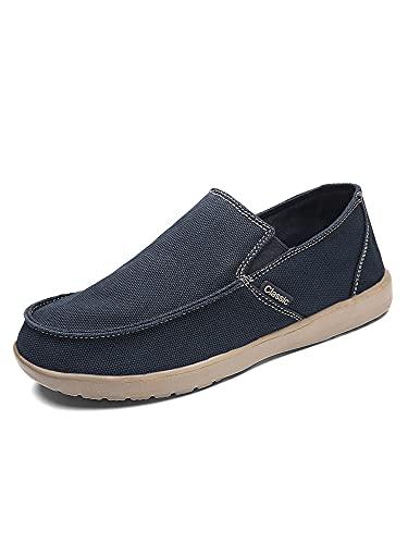 Zapatillas deportivas para hombre, ligeras, de lona, transpirables, para mocasines, color Azul, talla 43 EU