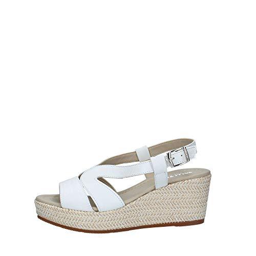 VALLEVERDE Sandalo Donna in Pelle CODICE 32211 - Bianco, 40