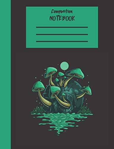 Composition Notebook: 7.5 x 9.75 100 Dotted Pages Mushroom Skull Themed Journal for School & College