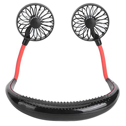 Aficionado A Los Deportes, Mini Ventilador De Cuello Para Viajar Al Aire Libre Para Acampar(negro)