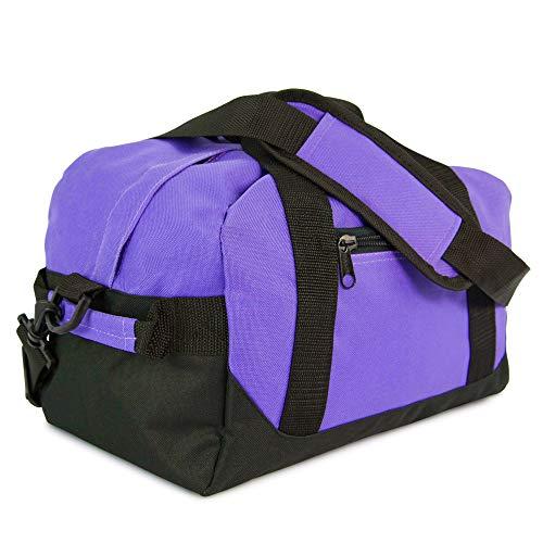DALIX 14' Small Duffle Bag Two Toned Gym Travel Bag (Purple)