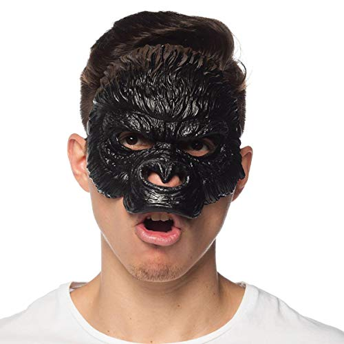 HMS Unisex-Adult's Supersoft Gorilla MASK, Black, One Size