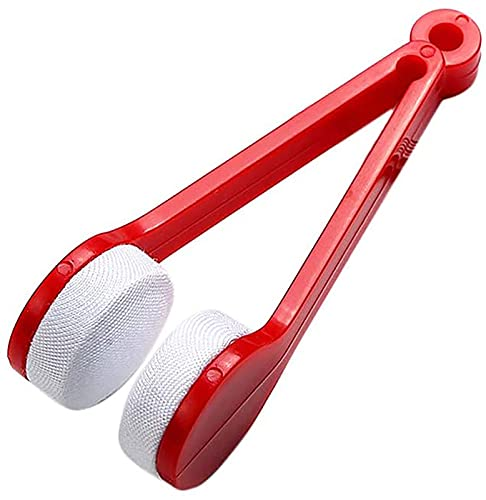 Mini Gafas de Sol Gafas Gafas Limpiador Cepillo Herramienta Microfibra Gafas Limpieza Suave Accesorios Accesorios para Mujeres Hombres niños Estudiantes Trabajadores de Oficina,Rojo