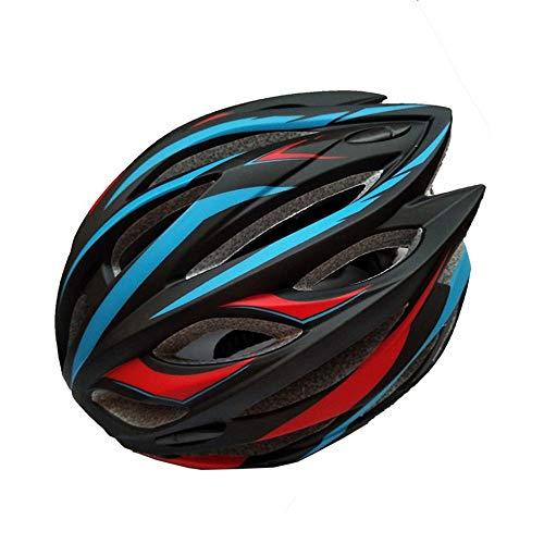 Bradoner Casco de bicicleta de carretera para montar en bicicleta de montaña, moldeo integrado para hombre y mujer (color: azul)