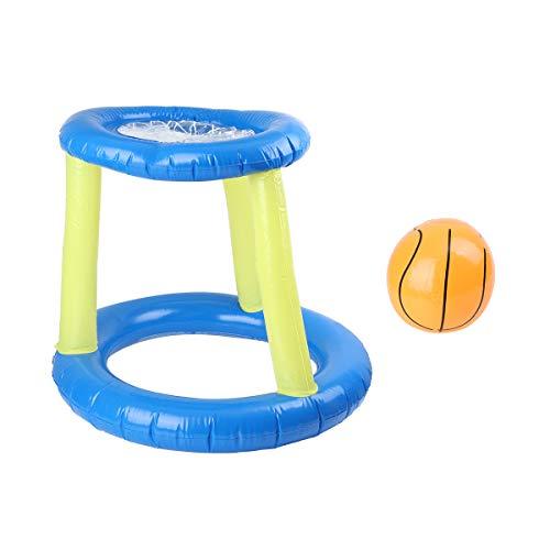 LIOOBO - Cesta de Baloncesto Hinchable para Arcos de Baloncesto de Agua para Juegos de Piscina (Azul)