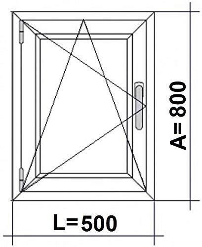 (V31M) Finestra PVC 500 x 800 Oscilobatiente sinistra