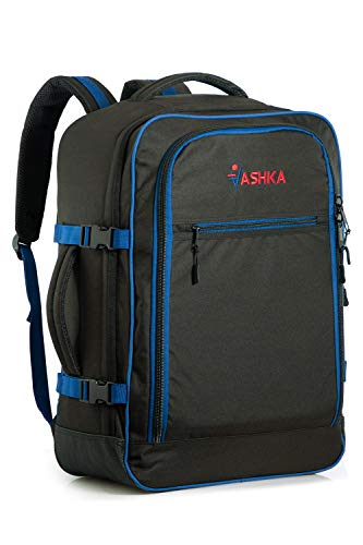 Mochila Vaska aprobada para Vuelo. Bolsa de Mano Massive de 44 litros Maleta de Viaje de Mano 55x40x20 cm - Azul Marino