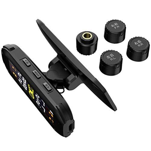 FAVOMOTO Sensor de Monitoreo de Presión de Neumáticos de Energía Solar Detector Inalámbrico con Pantalla Digital para Coche Motocicleta Camión