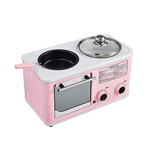 Conveniente y fácil de usar Conveniente y fácil de usar Máquina de desayuno Electric 1200W Horno multifuncional Cuatro tostadora Sandwich Omelette Fry Pan Hot Pot Calder Hervidor de comida calidad rob