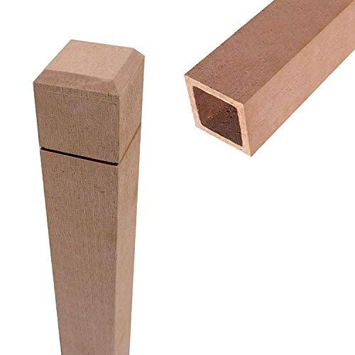 igarden アイガーデン アイウッド人工木ラティスポスト H210cm×6cm角1本 ナチュラル ポール 柱
