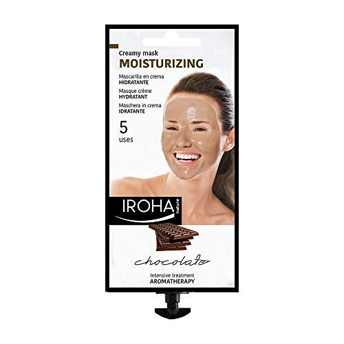 Iroha Nature - Mascarilla Facial en Crema, Hidratante con Chocolate