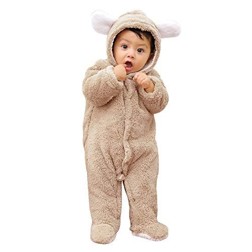 BeautyTop Unisex Baby Mädchen Jungen Herbst Winter Anzug Overall Einteiler, Soft Walk Wolle Baby Jungen Mädchen Denim Latzhose Kleinkind...