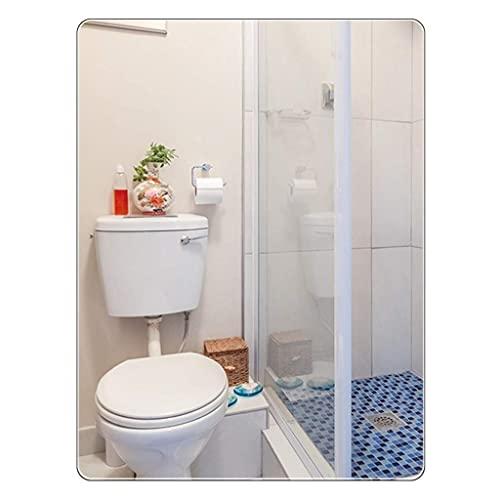 N&G Accesorios para Sala de Estar 50 X 70 CM Espejo de baño Rectángulo Moderno Espejo de Pared Grande Sin Marco Espejo de Plata HD para Maquillaje Tocador Sala de Estar Gimnasio Pasillo Dormitorio