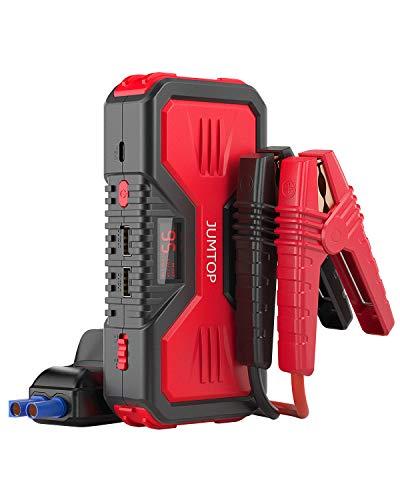 Memonotry JUMTOP QDSP - Arrancador portátil para Coche (4000 A, Pico 33600mAh 24 V, batería automática, batería de 24 V, con Cables de Puente Inteligentes y Linterna LED (Negro y Rojo)