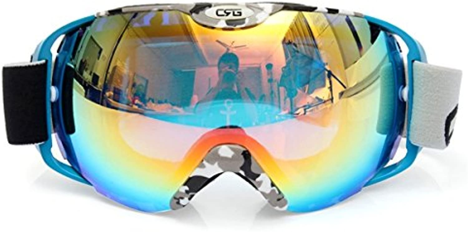 HITSAN Unisex Anti Fog UV Dual Lens Winter Racing Outdooors Snowboard Ski Goggles Sun Glassess CRG80-8A One Piece