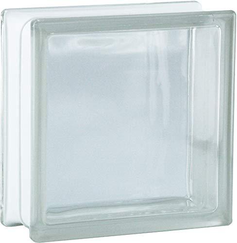 6 Stück BM Glassteine Vollsicht SUPER White 19x19x8 cm
