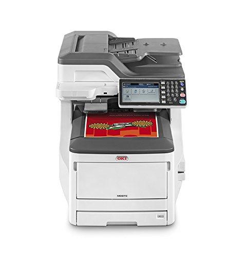 OKI MC873dn Multifunktionsdrucker (Farbe, Kopieren, Drucken, Scannen, Faxen, A3, 35 Seiten/Min., 1.200x600 dpi, LAN, WLAN optional, Duplexdruck, 10.000 Seiten/Monat, max 60.000 Seiten)
