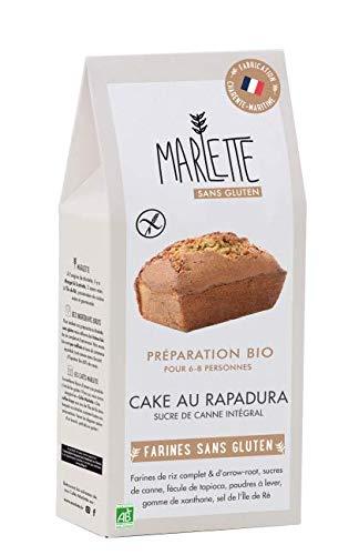 MARLETTE - Préparation Bio pour Cake au Rapadura sans gluten - Préparation bio - Matières premières locales - 340g - Blanc