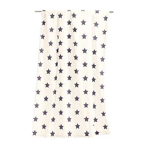 Irisette Wohndecke Sterne wollweiß 150x200 cm