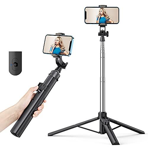 K&F Concept Bastone Selfie Treppiede , 155CM Selfie Stick Estensibile Portatile con Telecomando Bluetooth ,Rotazione a 360° per iPhone Samsung Galaxy Huawei