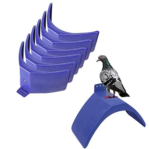 PeSandy Dove Rest Stand, 6PCS Lightweight Pigeons Rest Stand Bird Perches for Dove Pigeon and Other Birds, Durable Plastic Pigeon Perches Roost Bird Dwelling Stand Support Cage Accessories
