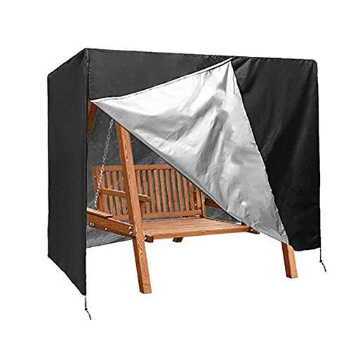 Lood Waterproof 3-Sitzer Patio Schaukelstuhl Sitzbezug Sonnenschutzbezug 210D Oxford Garden Hängemattenschutzbezug