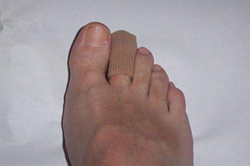 X2foottrektm polímero con forro de tela Gel Toe Protector Caps fortoes (tamaño S/M, M/L) (tamaño mediano/grande)