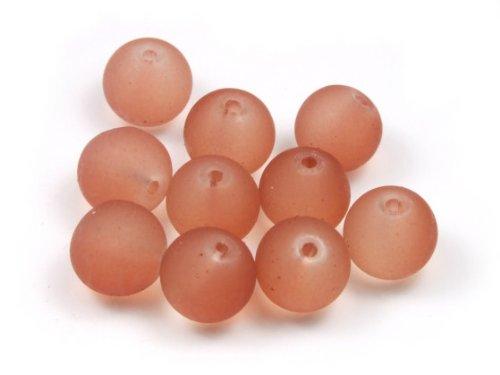 50er Pack Perlen, Serie Satin C, 10mm, matt, bernstein