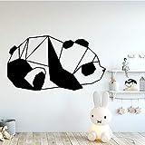 Tianpengyuanshuai Belleza Panda Decal Decoración Moda Etiqueta de la Pared Etiqueta Impermeable 36X64cm