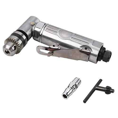 Right Angle Grinder Die 1/4 alta velocidad codo de 90º Mini amoladora angular taladro neumático Taladro herramienta (plata)