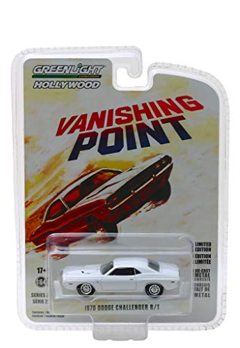 1970 Dodge Challenger R/T White Vanishing Point (1971) Movie Hollywood Series 22 1/64 Diecast Model Car by Greenlight 44820 A
