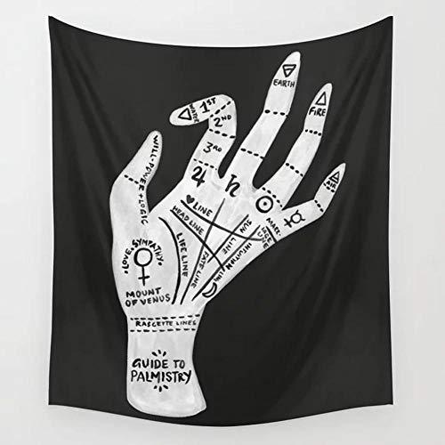 Yhjdcc Divination Tarot Tapisserie Wandbehang Mond Phase Change Wandteppiche Schlafzimmer Dekor Tagesdecke ¨¹berwurf Abdeckung Sun Moon Wanddekoration 150cm x 200 cm